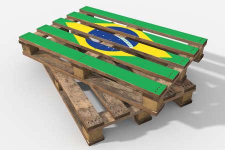 Pallet 3D flag Brazil