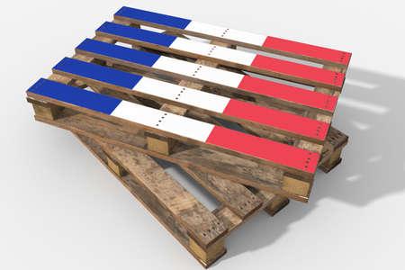Pallet 3D flag France