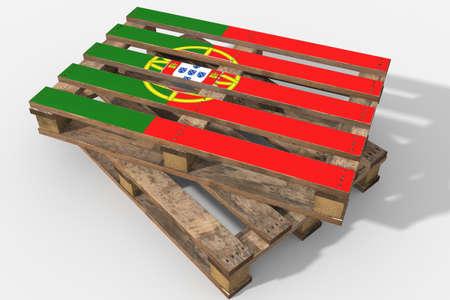 bandera de portugal: Pallet 3D bandera de Portugal