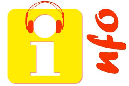 3d music: Information 3D music Stock Photo
