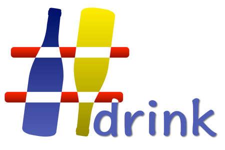 aggregator: Hashtag drink 3D Stock Photo