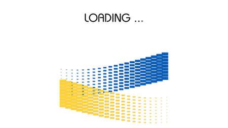 ukraine flag: Ukraine flag with moving loading