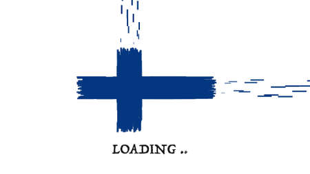 finland flag: Finland Flag with moving loading