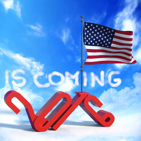 next year: 2016 is coming with USA flag