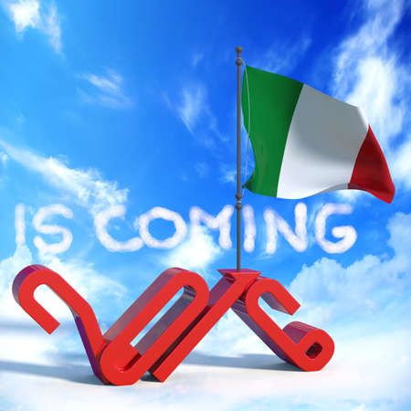 next year: 2016 is coming with flag Italy