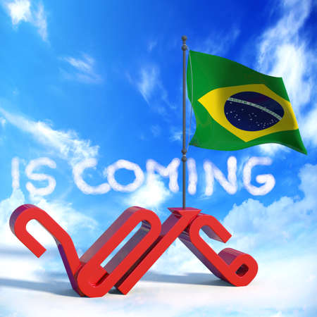 next year: 2016 is coming with Brazil flag