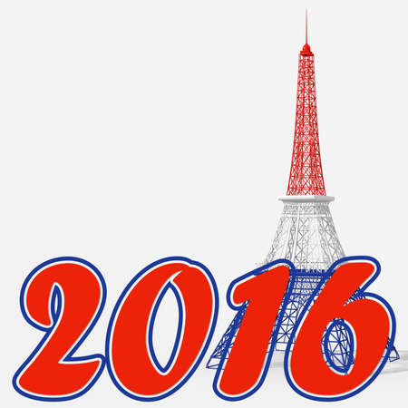 paris happy new year 2016 with the eiffel tower stock photo 45985889
