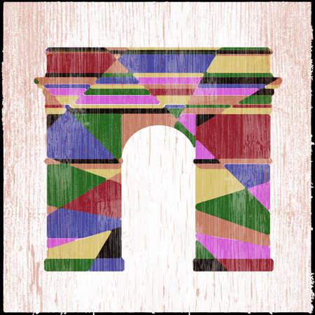 arc: Arc de Triomphe grunge Stock Photo