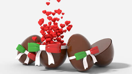 Italian Easter egg broken heart with surprise Foto de archivo