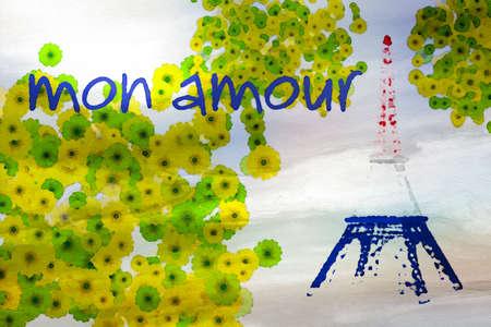 amore: Paris mon amour Stock Photo