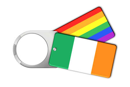 lucido: Keychain with the flag of Ireland and Peace