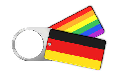 lucido: Keychain with the flag of Germany and Peace Stock Photo