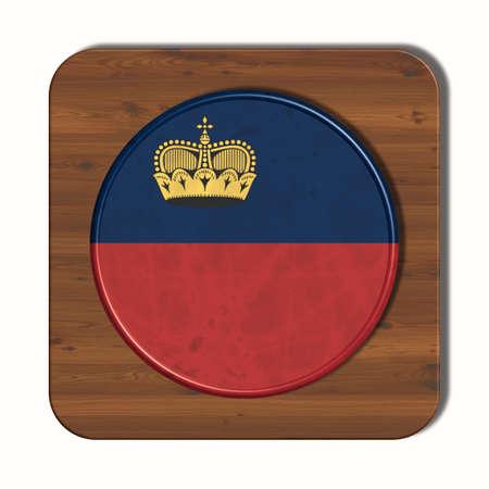 3d button: 3D button with Liechtenstein flag