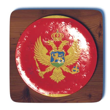 3d button: 3D button with Montenegro flag Stock Photo