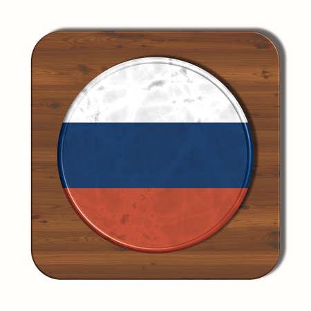 bandera rusia: bot�n 3D con bandera de Rusia