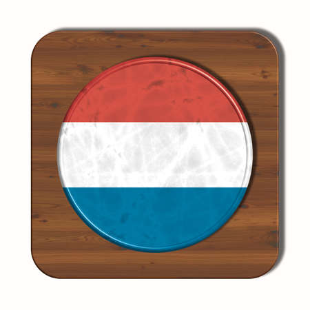 3d button: 3D button with Luxembourg flag