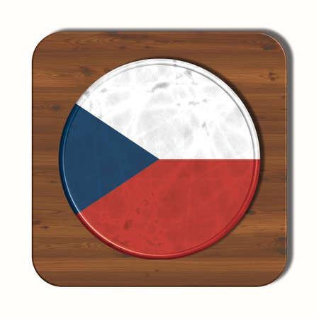 3d button: 3D button with flag Czech Republic Stock Photo