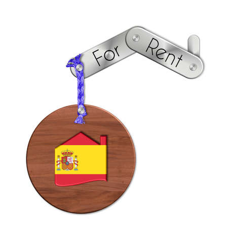lucido: Gadget steel and wood with the nation and home symbol for rent Spain