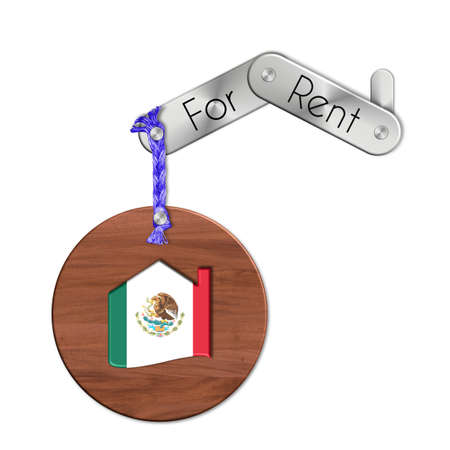 lucido: Gadget steel and wood with the nation and home symbol for rent Mexico