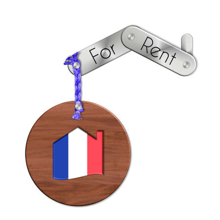 lucido: Gadget steel and wood with the nation and home symbol for rent France