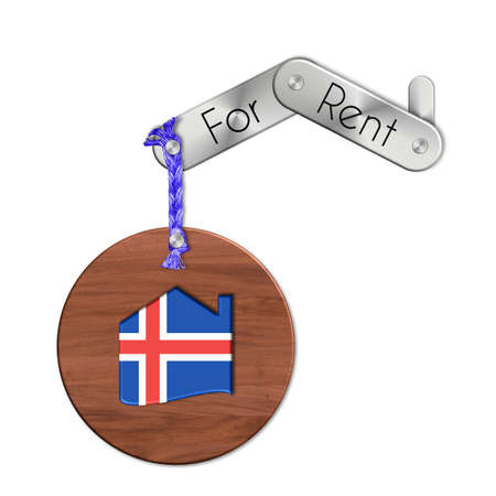 lucido: Gadget steel and wood with the nation and home symbol for rent Iceland