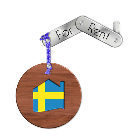 lucido: Gadget steel and wood with the nation and home symbol for rent Sweden