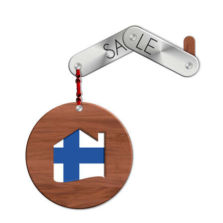 icona: Gadget steel and wood with the nation and home symbol sale Finland
