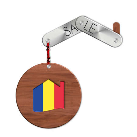 icona: Gadget steel and wood with the nation and home symbol sale Romania