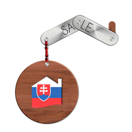 lucido: Gadget steel and wood with the nation and home symbol Slovakia sale