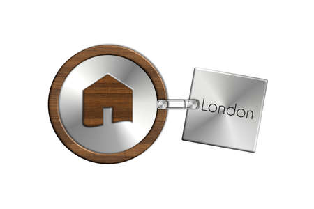 lucido: Gadget 2 house in steel and wood labeled London