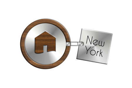 lucido: Gadget 2 house in steel and wood with New York label