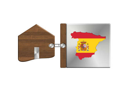 lucido: Gadgets house in steel and wood with label nation Spain