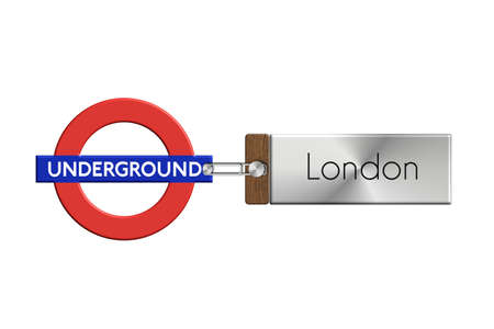 lucido: London subway gadgets steel and wood with label