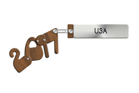 anno: Gadgets 2017 steel and wood with USA label
