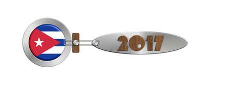 turn of the year: Gadget Cuba in 2017 in steel and wood Stock Photo