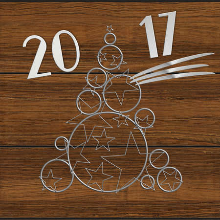 turns of the year: Christmas Tree 2017 steel and wood