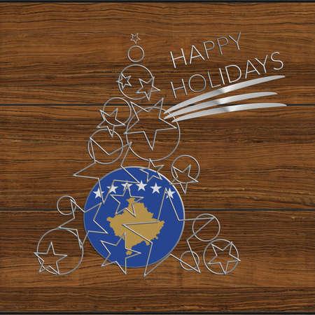 icona: Happy Christmas tree Kolidays steel and wooden Kosovo