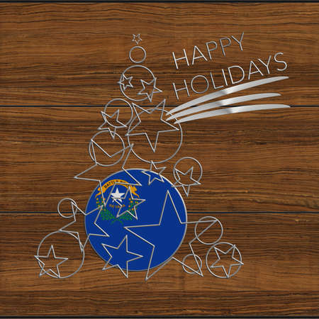 Happy Christmas tree Kolidays steel and wood Nevada