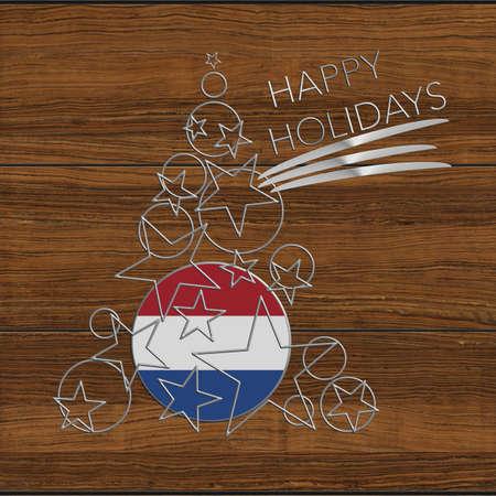 Happy Christmas tree Kolidays steel and wooden Netherlands
