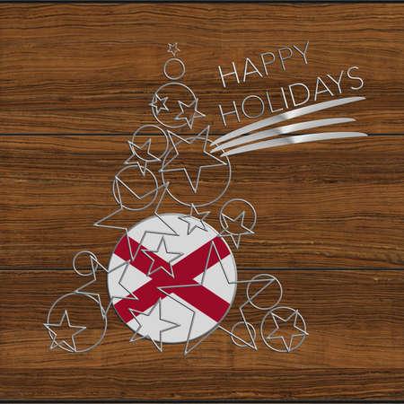 icona: Happy Christmas tree Kolidays steel and wood Alabama