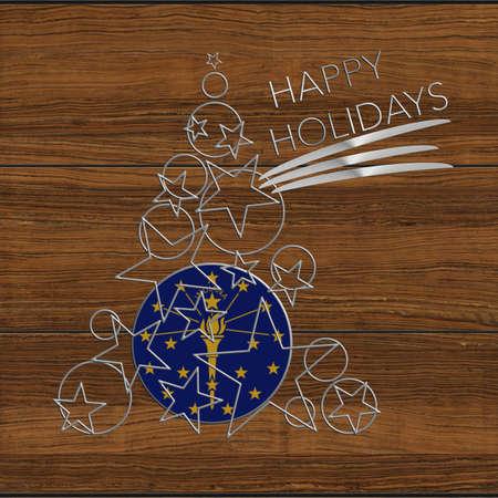 Happy Christmas tree Kolidays steel and wood Indiana