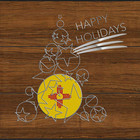 Happy Christmas tree Kolidays steel and wood New Mexico