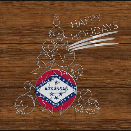 Happy Christmas tree Kolidays steel and wood Arkansas