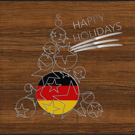 Happy Christmas tree Kolidays steel and wood Germany
