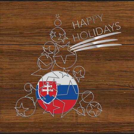 icona: Happy Christmas tree Kolidays steel and wood Slovakia