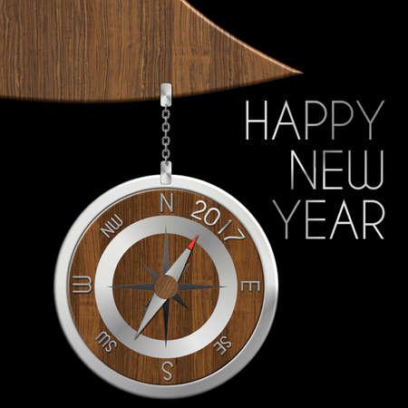 felice: Ball compass Christmas 2017 steel and wood