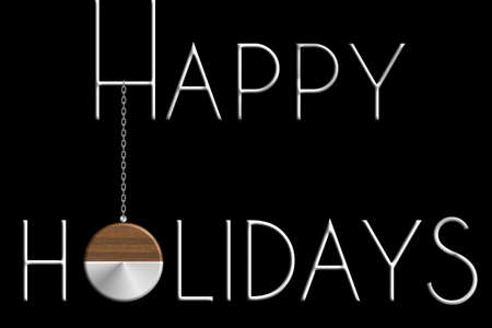 Palla Happy Holiday in acciaio e legno