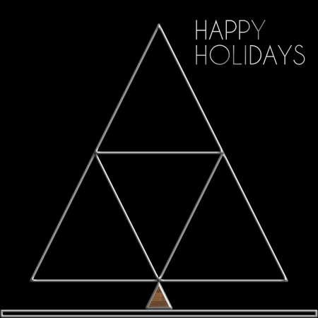 felice: Christmas Tree Happy Holidays steel and wood
