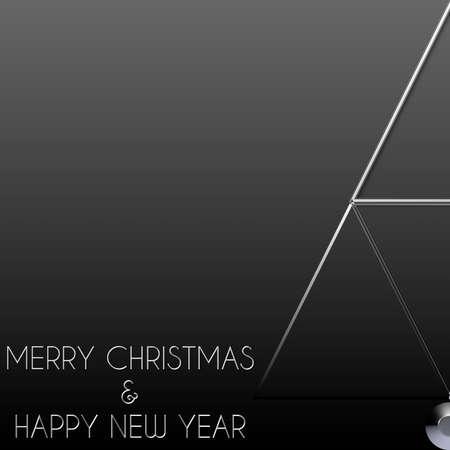 albero di Natale Buon Natale in acciaio