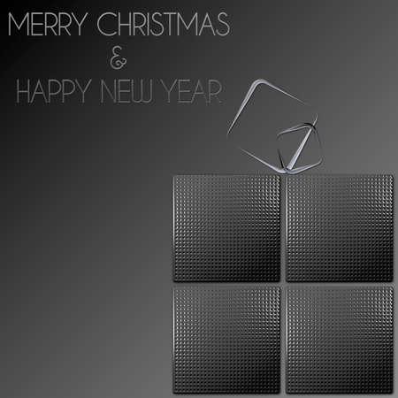 pacchetto regalo d'acciaio di Buon Natale